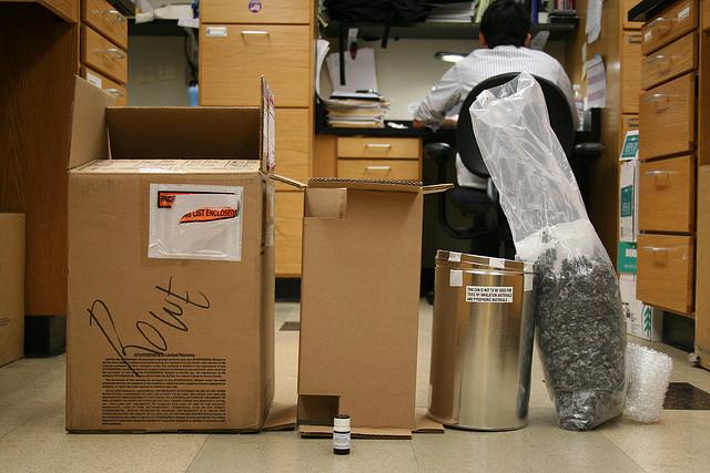 Cardboard boxes image