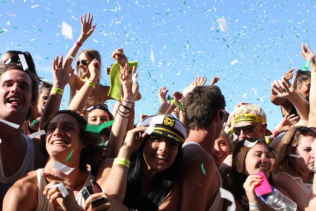 Music festival revellers image