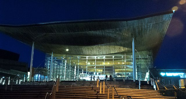The Senedd building, Cardiff Bay image