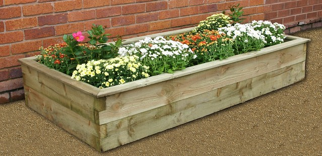 Garden sleeper raised bed photo