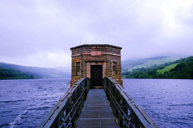 Talybont Reservoir in Brecon, Wales
